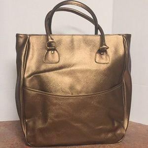 Estée Lauder Metallic Faux Leather Tote Large
